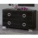 ESF Furniture 624 Coco Dresser C97 in Black