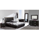 ESF Furniture 624 Coco 4-Piece Platform Storage Bedroom Set in Black