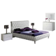 ESF Furniture 629 Adriana Queen Platform Bed in White