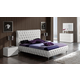 ESF Furniture 629 Adriana 4-Piece Platform Bedroom Set in White
