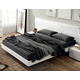 ESF Furniture Sara Queen Platform Bed in White