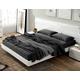 ESF Furniture Sara King Platform Bed in White