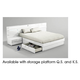 ESF Furniture Sara Queen Platform with Storage Bed in White