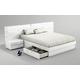 ESF Furniture Sara King Platform with Storage Bed in White