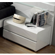 ESF Furniture Sara 2 Drawer Nightstand in White