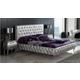 ESF Furniture 623 Lorena Cal King Platform Bed in Silver