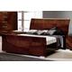 ESF Furniture Capri Queen Sleigh Bed in Walnut