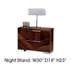 ESF Furniture Capri 2 Drawer Nightstand in Walnut