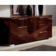 ESF Furniture Capri Double Dresser in Walnut