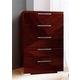 ESF Furniture Capri 5 Drawer Chest in Walnut