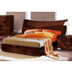 ESF Furniture Cindy Queen Sleigh Bed in Walnut