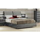 ESF Furniture Elite Grey Birch Queen Platform Bed in Grey