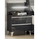ESF Furniture Elite Grey Birch 2 Drawer Nightstand in Grey