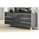 ESF Furniture Elite Grey Birch 6 Drawer Dresser in Grey