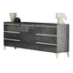 ESF Furniture Elite Grey Birch Vanity Dresser in Grey