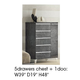 ESF Furniture Elite Grey Birch 5 Drawer Chest in Grey