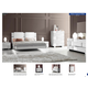 ESF Furniture Status Caprice 4-Piece Sleigh Bedroom Set in White