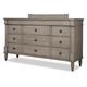 Durham Furniture Blairhampton Triple Dresser in Shale 141-173S