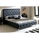 ESF Furniture 621 Nelly King Platform Bed in Black