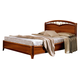 ESF Furniture Nostalgia Queen Curvo Fegio Platform Bed in Walnut