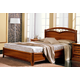 ESF Furniture Nostalgia King Curvo Fegio Platform Bed in Walnut