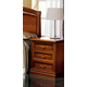 ESF Furniture Nostalgia 3 Drawer Nightstand in Walnut