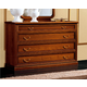 ESF Furniture Nostalgia 4 Drawer Single Dresser in Walnut