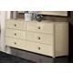 ESF Furniture La Star Double Dresser in Ivory