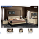 ESF Furniture La Star (Comp 3) 4-Piece Plano Platform Bedroom Set in Ivory