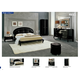 ESF Furniture Magic (Comp 11) 4-Piece Diamante Platform Bedroom Set in Black