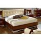 ESF Furniture Matrix  King Boiserie Maxi Platform Bed w/ Beige Headboard in Dark Walnut