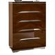 ESF Furniture Matrix 5 Drawer Chest in Dark Walnut