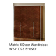 ESF Furniture Matrix 4 Door Wardrobe in Dark Walnut