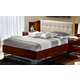 ESF Furniture Matrix King Maxi Quadri Platform Bed w/ White Headboard in Dark Walnut
