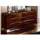 ESF Furniture Matrix Double Dresser in Dark Walnut