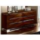 ESF Furniture Matrix Double Dresser in Dark Walnut