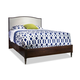 Durham Furniture Blairhampton King Upholstered Arch Top Bed in Husk 141-142H