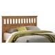 Carolina Furniture Sterling Queen Headboard w/ Bed Frame in Clear Oak 4900