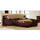 ESF Furniture Miss Italia Queen Drop Leather Headboard Platform Bed in Matte