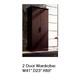 ESF Furniture Miss Italia 2 Door Wardrobe in Matte