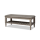 Durham Furniture Dunns Valley Bed Bench in Shale 142-010A