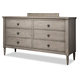 Durham Furniture Dunns Valley Double Dresser in Shale 142-172S