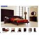 ESF Furniture Miss Italia (Comp 9) 4-Piece Europa Drop Wood Headboard Platform Bedroom Set in Matte