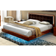 ESF Furniture Sky Queen Plano Bed in Walnut