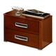 ESF Furniture Sky 2 Drawer Nightstand in Walnut