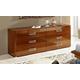 ESF Furniture Sky 6 Double Dresser in Walnut