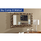 ESF Furniture Sky Retro Mirror in Walnut