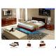 ESF Furniture Sky (Comp 7) 4-Piece Plano Platform Bedroom Set in Walnut