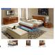 ESF Furniture Sky (Comp 8) 4-Piece Platform Bedroom Set in Walnut