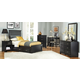 Carolina Furniture Platinum Black Bedroom Set